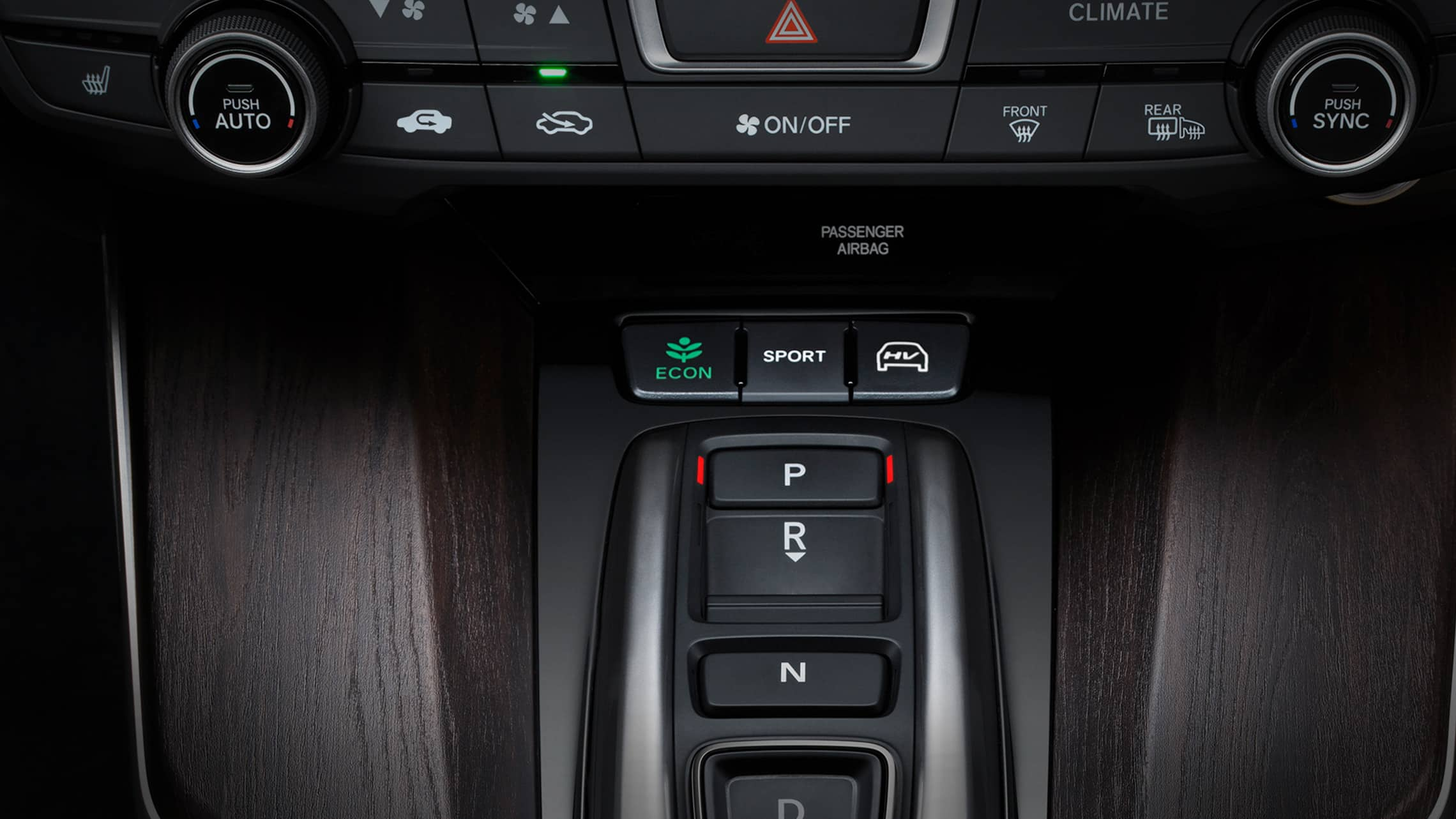 Detail of Shift-By-Wire in 2021 Clarity Plug-In Hybrid.