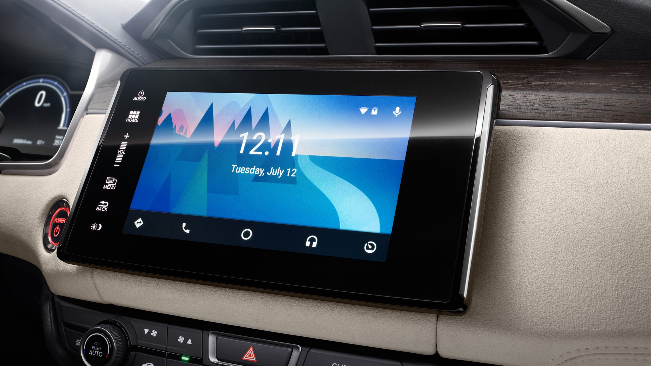 Android Auto™ integration on Display Audio touch-screen in the 2021 Honda Ridgeline.